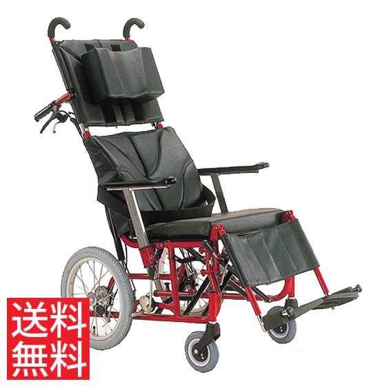 送料無料 カワムラサイクル 介助用 ティルト・リクライニング車椅子 KPF16-40(42)ABF アブソレックスキャスタ仕様 | 車いす 車イス くるまいす 背折れ 折りたたみ 折り畳み エアタイヤ 介助ブレーキ付き バンド式ブレーキ 転倒防止バー