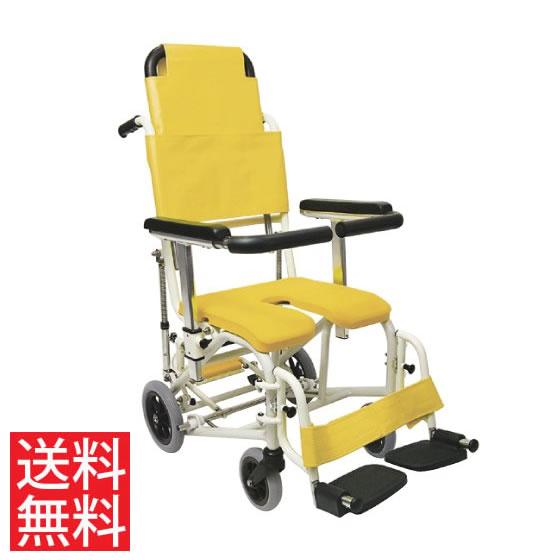 シャワー用 車椅子 KS11-PF ティルト リクライニング スイングアウトカワムラサイクル 高さ調節 フットブレーキ 転倒防止バー 背延長 クリあり アルミ製 介助用 病院 施設 在宅 介護 お風呂 入浴 車いす プレゼント ギフト