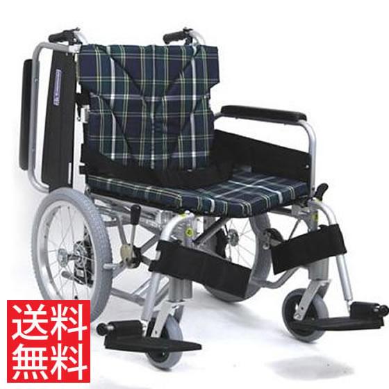簡易調節 幅広 低床 車椅子 エアタイヤ 介助用 送料無料 カワムラサイクル KA800シリーズ KA816-45B-SL モジュール 調整 調節 超低床 低い 折り畳み 16インチ シートベルト 大きいサイズ ワイド 人気 車イス 車いす