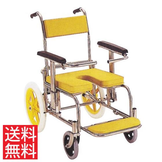 送料無料 シャワー用 お風呂 入浴 車椅子 カワムラサイクル KSシリーズ KS2 クリありシート 段差 病院 施設 浴槽 ステンレス 黄色 赤