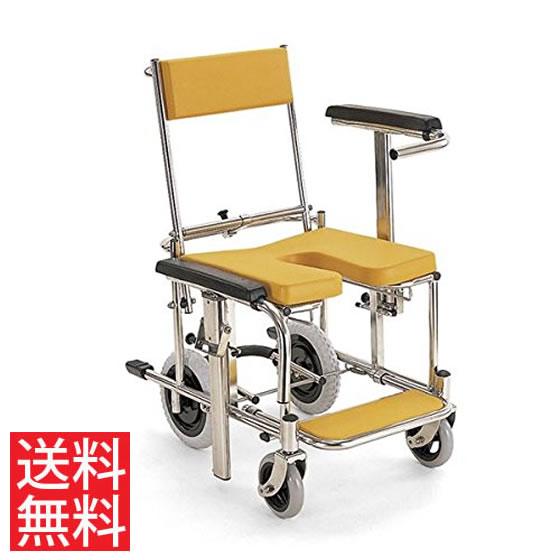 コンパクトサイズ シャワー用 車椅子 KS3 高床 カワムラサイクル ステンレス製 クリありシート フットブレーキ 前後式バックサポート 介助用 病院 施設 在宅 介護 お風呂 入浴 車いす 車イス くるまいす