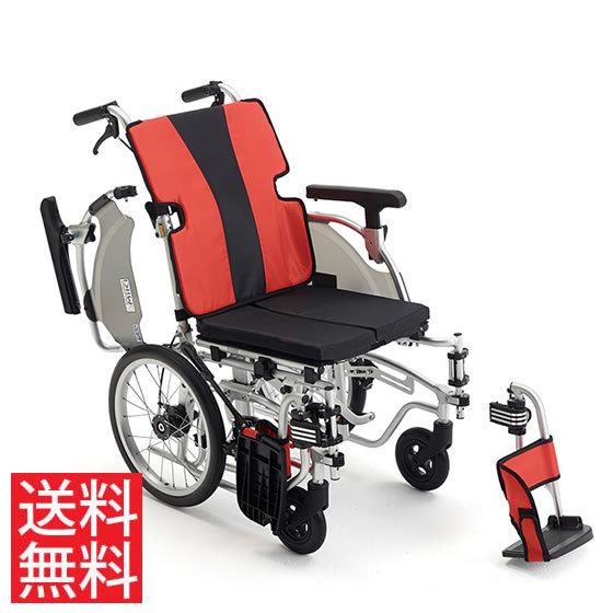 送料無料 車椅子 モジュール ノーパンク スイングアウト アームサポート跳ね上げ MIKI ミキ 介助用 車イス MEF-16 座面高調整 シート幅調整 調整簡単 折りたたみ アームサポート高さ調整 座りやすい
