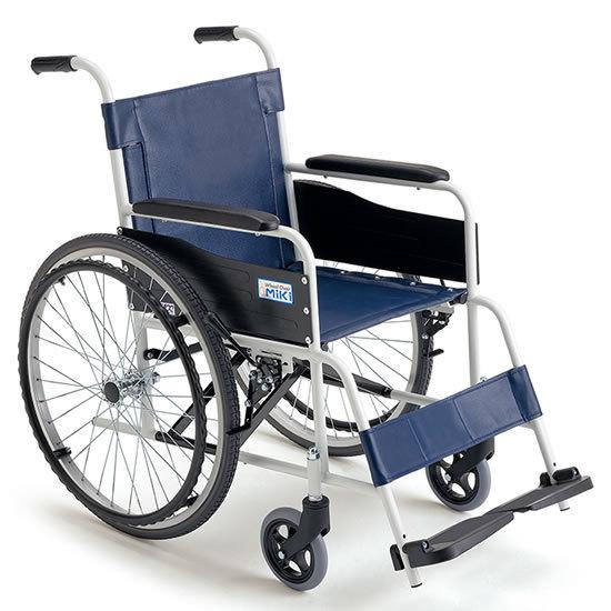 送料無料 車椅子 施設 病院 店舗 シンプル お手入れ簡単 ノーパンク MIKI ミキ スチール製 FE-4 自走用 車イス 車いす ビニールレザーシート ハイポリマータイヤ 頑丈 丈夫 点滴 点滴棒 点滴ホルダー
