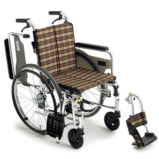 送料無料 ミキ 自走用 軽量車椅子 スキットシリーズ SKT-4 | 車いす 車イス くるまいす 背折れ 軽量 折りたたみ 折り畳み エアタイヤ コンパクト 室内向け JISマーク