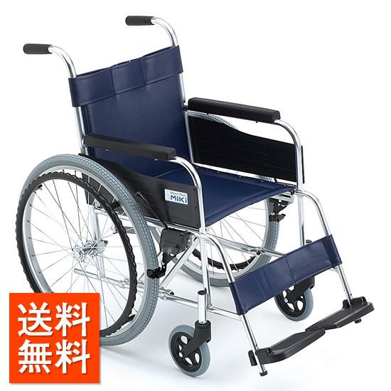 送料無料 車椅子 シンプル スタンダード ビニールレザーシート 汚れが拭きとりしやすい 清潔 座幅が選べる MIKI ミキ M-1シリーズ MPN-43 自走用 車いす 安い 車イス くるまいす 施設 病院