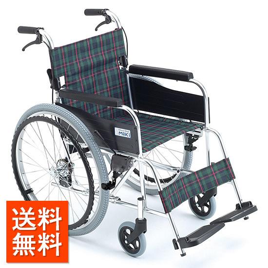 車椅子 自走式 MiKiミキ エムワンシリーズ MPN-43JD スタンダード 施設 病院 老人ホーム 折りたたみ シート幅 安い 送料無料 車いす 車イス