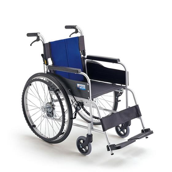 車椅子 送料無料 使いやすい 人気 スタンダード 標準 初心者 MIKI ミキ BAL-1 自走用 車いす 車イス 折りたたみ ノーパンク おじいちゃん おばあちゃん 施設 病院 自宅 安い