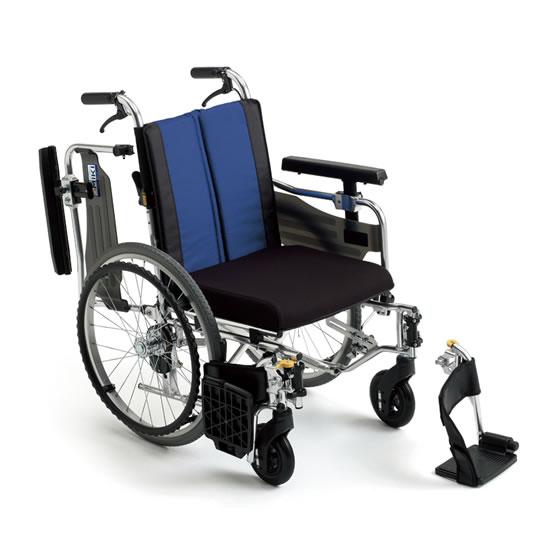送料無料 車椅子 低座面 低床 モジュール 座面高調整 スイングアウト 肘跳ね上げ ノーパンク 厚クッション MIKI ミキ BALシリーズ BAL-9 自走用 車いす 車イス 座り心地 機能充実 多機能 折りたたみ 小柄 施設