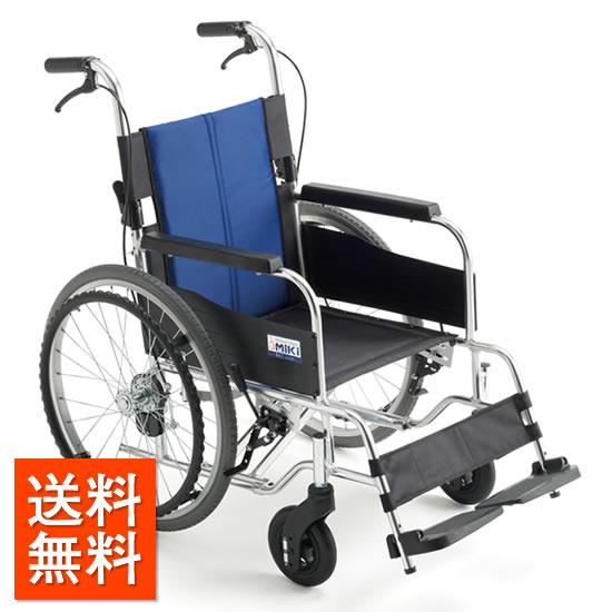 送料無料 車椅子 低床 低座面 ノーパンク 折りたたみ 介助ブレーキ 小柄 高齢 お年寄り 使いやすい MIKI ミキ BALシリーズ BAL-1S 自走用 自走介助兼用 車いす 車イス 施設 病院 受注生産