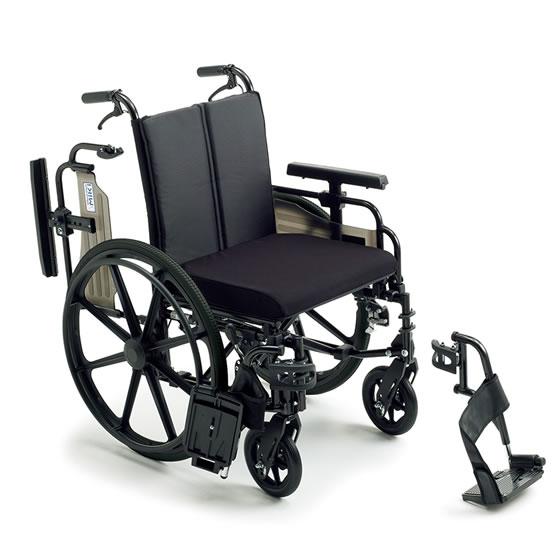 ミキ/MiKi ビッグサイズ 車椅子 KJP-4 | 送料無料 自走式 自走用 肘跳ね上げ スイングアウト クッション ノーパンクタイヤ 折りたたみ 折り畳み 車いす 車イス 耐荷重130kg