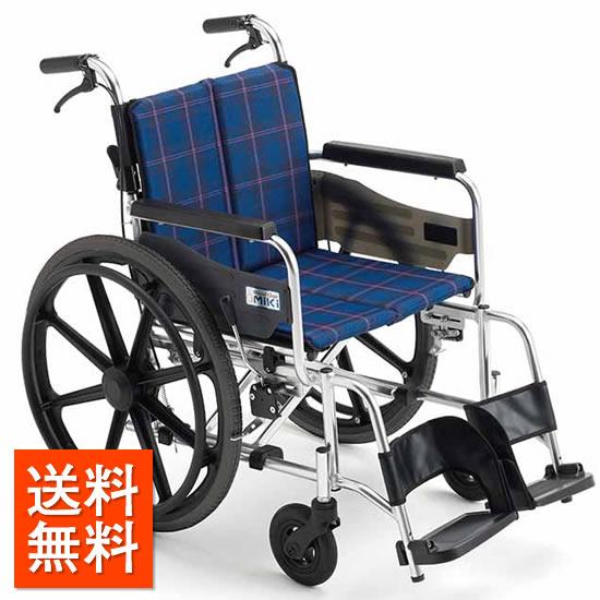 ミキ/MiKi ビッグサイズ 車椅子 KJP-2M スタンダードタイプ | 送料無料 自走式 自走用 ノーパンクタイヤ 折りたたみ 折り畳み 車いす 車イス 耐荷重130kg 受注生産