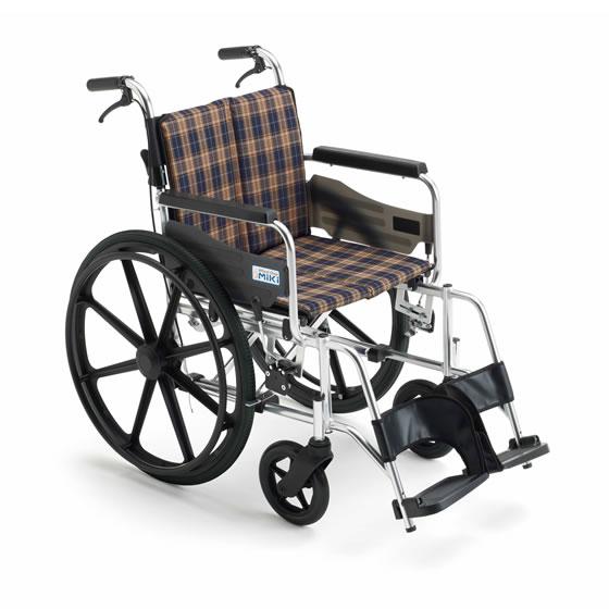 ミキ/MiKi ビッグサイズ 車椅子 KJP-2H 高座面タイプ | 送料無料 自走式 自走用 ノーパンクタイヤ 折りたたみ 折り畳み 車いす 車イス 耐荷重130kg 受注生産