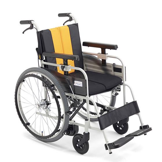 送料無料 車椅子 自動ブレーキ ノンバックブレーキシステム MIKI ミキ とまっティシリーズ MBY-47B 標準タイプ ブレーキかけ忘れ 自走用 車いす 車イス 折り畳み