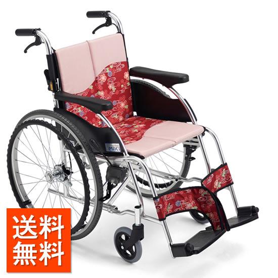 送料無料 車椅子 おしゃれ シート着せ替え シンプル 洗濯 清潔 オシャレ かわいい MIKI ミキ 着せかえ車いす MPR-1 自走用 自走介助兼用 車いす 車イス くるまいす 女性 人気 和柄 個性的 スタイリッシュ