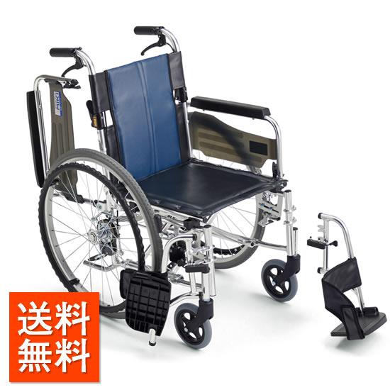介助者の負担を軽減!送料無料 車椅子 足踏みブレーキ シンプル 操作が楽 連動式ブレーキ スイングアウト 跳ね上げ MIKI ミキ BALシリーズ BAL-3B 自走用 介助ブレーキ 車イス 車いす レザー 拭き取り 清潔 施設 病院