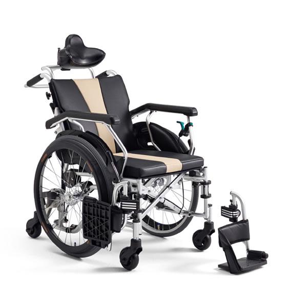 送料無料 車いす リクライニング 小回り 6輪 安定した座位 前滑り防止 セルフリクライニング MIKI ミキ セルフシリーズ STS-1 SEATUS 自走用 乗りやすい 自分で操作できる 背折れ 車イス 車椅子 くるまいす