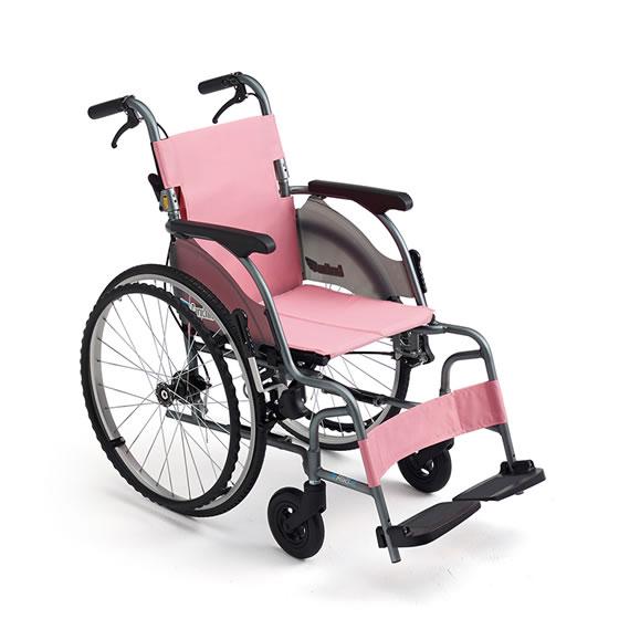コンパクト 超軽量 スリム 車椅子 ワンハンドブレーキ 送料無料 人気 MIKI ミキ CRT-5 自走用 車いす 車イス 折りたたみ ノーパンクタイヤ 施設 病院 自宅 安い ピンク グリーン 折り畳み ハイポリマー かわいい
