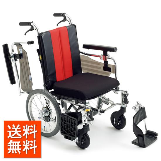 介助者の負担軽減 送料無料 車椅子 シート幅モジュール ハンドル高さ調整 低座面 足こぎ 低床 スイングアウト 肘跳ね上げ MIKI ミキ MM Fit Lo16 介助用 車いす 車イス くるまいす 折り畳み 折りたたみ サイズ調整