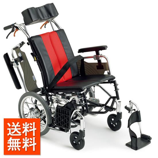 送料無料 車椅子 シンプル 使いやすい 肘跳ね上げ スイングアウト ティルト MIKI ミキ MX-Ti DX ふみ子ちゃん2 足踏み連動式駐車ブレーキ 介助用 車いす 車イス くるまいす 高さ調整 折り畳み おりたたみ