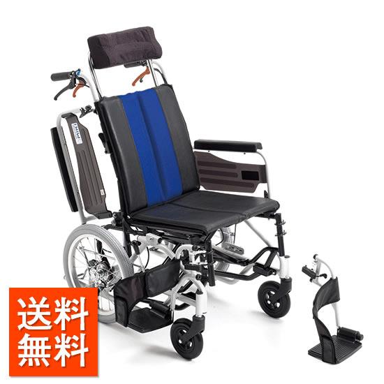 車椅子 介助式 機能充実 MiKi ミキ MP-TiF VL ティルト ふき取り 清潔 スリム 座位保持 リラックス 長時間 スイングアウト 肘跳ね上げ 折りたたみ 車イス 車いす 送料無料