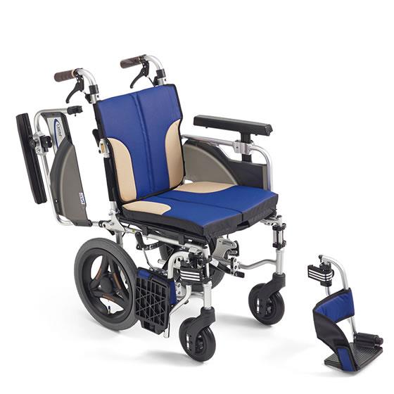 送料無料 車椅子 スリム コンパクト モジュール MIKI ミキ スキットシリーズ SKT-2000 介助用 車イス 車いす 足こぎ クッション シート幅 小回り 自宅 折り畳み たためるクッション 座面高調整 多機能