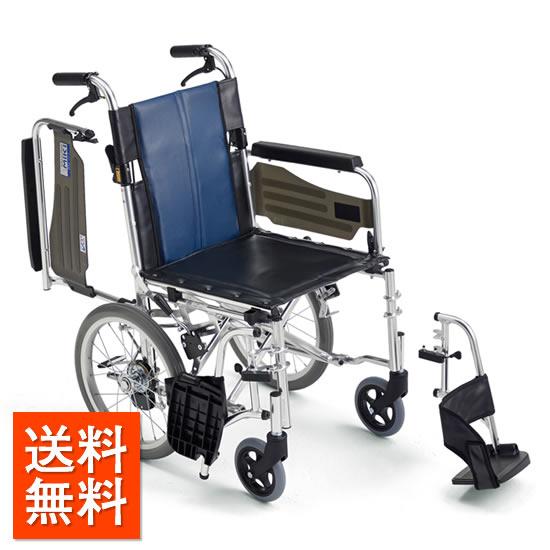 介助者の負担を軽減!送料無料 車椅子 足踏みブレーキ シンプル 操作が楽 連動式ブレーキ スイングアウト 跳ね上げ MIKI ミキ BALシリーズ BAL-4B 介助用 介助ブレーキ 車イス 車いす レザー 拭き取り 清潔 施設 病院