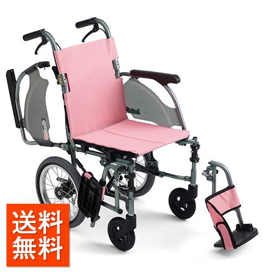 コンパクト 超軽量 スリム 車椅子 肘跳ね上げ スイングアウト 送料無料 人気 スタンダード MIKI ミキ CRT-4 介助用 車いす 車イス 折りたたみ エアタイヤ おじいちゃん おばあちゃん 施設 病院 自宅 安い 折り畳 ピンク グリーン かわいい