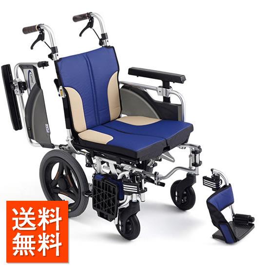 送料無料 車椅子 コンパクト モジュール 低床 足こぎ MIKI ミキ スキットシリーズ SKT-2000Lo 介助用 クッション付 座面高調整 座面幅調整 小柄 女性 前ずれ防止 厚クッション