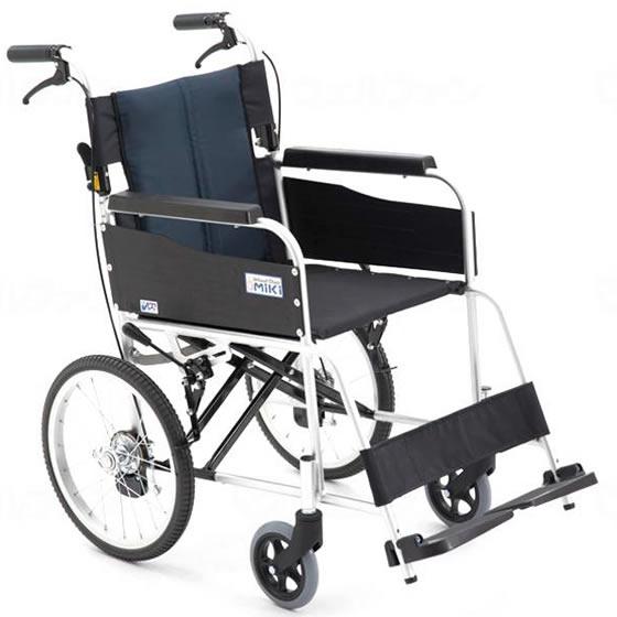 MiKi/ミキ 介助用車椅子 USG-2 | 車椅子 軽量 折り畳み 折りたたみ アルミ製 背折れ 介助式 ノーパンクタイヤ ハイポリマータイヤ 施設 病院