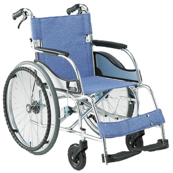 車椅子 軽量 軽い スタンダード 折り畳み 折りたたみ 介助用ブレーキ 松永製作所 エアリアルシリーズ MW-SL11B 自走用 自走介助兼用 車いす 車イス くるまいす 自宅 施設 プレゼント 父の日