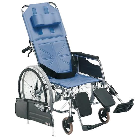 松永製作所 自走用 スチール製リクライニング車椅子 CM-50 | 車椅子 リクライニング シートベルト 安全ベルト エレベーティング 介助式 車いす 車イス くるまいす 丈夫 頑丈 安い 施設 病院