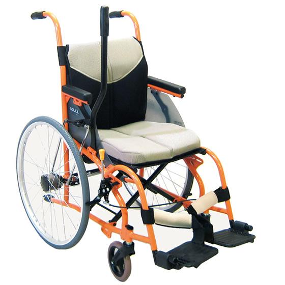 車椅子 片手で操作 障がい者総合支援法レバー駆動認定商品 ワンハンド 松永製作所 片手操作車椅子 ワンハンドスカル SCULL type1 OH-1 自走用 車いす 車イス 施設 病院 自宅 プレゼント 父の日