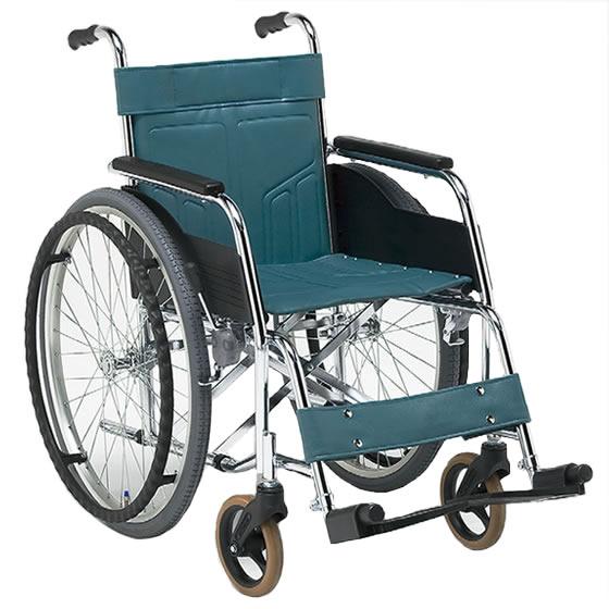 松永製作所 スチール製 自走用車椅子 DM-81 | 送料無料 折りたたみ 病院 施設 人気 シンプル 丈夫 頑丈 ビニールレザー 自走式 高床 高座面 車いす 車イス くるまいす 安い