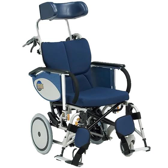 車椅子 ティルト リクライニング コンパクト スリム 女性 小柄 転倒防止 介助用ブレーキ フットブレーキ 連動 松永製作所 OS-12TR 介助用 介助式 車いす 車イス くるまいす 自宅 施設 プレゼント 父の日