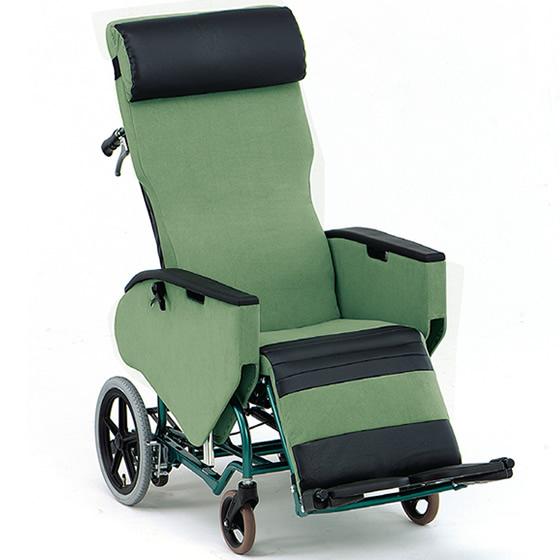 松永製作所 ティルト&フルリクライニング車椅子 FR-31TR | フルリクライニング リクライニング ティルト 横移動 フラット エレベーティング フットブレーキ シート張り調整 エリーゼ 車いす 車イス 座り心地 施設 病院