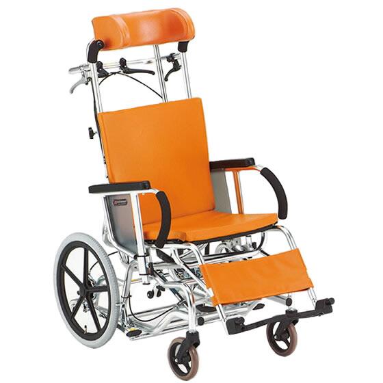 車椅子 ティルト リクライニング 枕高さ調整 フットブレーキ 転倒防止パイプ 松永製作所 マイチルトシリーズ MH-1R 介助式 車いす 車イス くるまいす 施設 病院 プレゼント 父の日