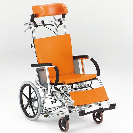 車椅子 ティルト リクライニング 枕高さ調整 枕角度調整 背シート張調整 フットブレーキ 転倒防止パイプ 松永製作所 マイチルトシリーズ MH-2R 介助式 車いす 車イス くるまいす 施設 病院 プレゼント 父の日