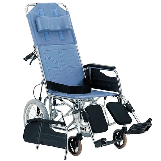 松永製作所 介助用 スチール製リクライニング車椅子 CM-54 | 車椅子 リクライニング シートベルト 安全ベルト エレベーティング 介助式 車いす 車イス くるまいす 丈夫 頑丈 安い 施設 病院