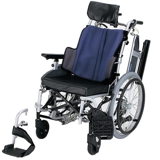 送料無料 日進医療器 自走用 ティルト車椅子 座王 NA-F7 | 車いす 車イス くるまいす 背折れ 折り畳み 折りたたみ エアタイヤ 介助ブレーキ付き バンド式ブレーキ アルミフレーム