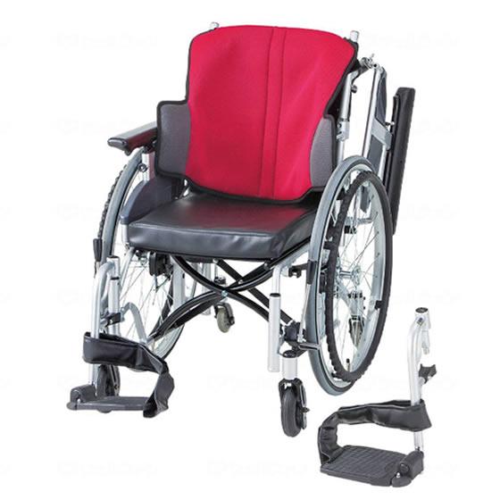 送料無料 日進医療器 自走用 車椅子 座王 NA-506W 6輪タイプ | 車いす 車イス くるまいす 背折れ 折り畳み 折りたたみ エアタイヤ 介助ブレーキ付き バンド式ブレーキ アルミフレーム 家屋内専用