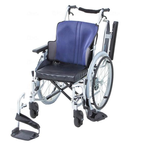 送料無料 日進医療器 自走用 車椅子 座王 NA-521W | 車いす 車イス くるまいす 背折れ 折り畳み 折りたたみ エアタイヤ 介助ブレーキ付き バンド式ブレーキ アルミフレーム