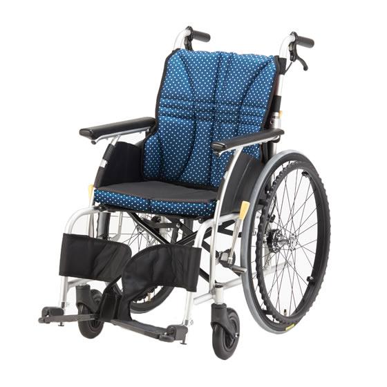 送料無料 日進医療器 自走用 車椅子 ウルトラシリーズ NA-U1 | 車いす 車イス くるまいす 背折れ 折り畳み 折りたたみ エアタイヤ 介助ブレーキ付き ドラム式ブレーキ アルミフレーム JISマーク