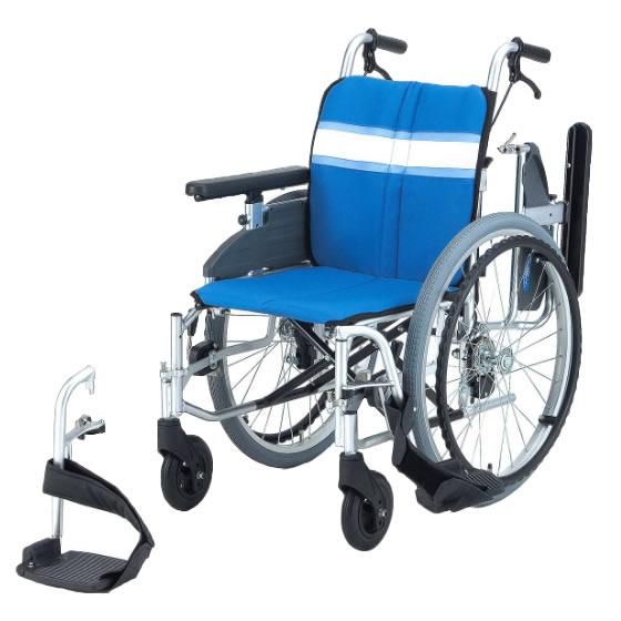 送料無料 日進医療器 自走用 モジュール車椅子 NA-3DX | 車いす 車イス くるまいす 背折れ 折り畳み 折りたたみ エアタイヤ 介助ブレーキ付き バンド式ブレーキ アルミフレーム JISマーク