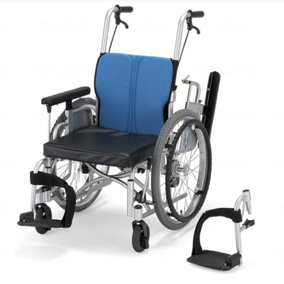 足こぎ 片足こぎ 低床 クッション付き 車椅子 折りたたみ エアタイヤ スイングアウト 肘跳ね上げ アーチクロス モジュラー キックル 自走用 送料無料 日進医療器 nissin 20インチ 車イス 車いす くるまいす 折り畳み