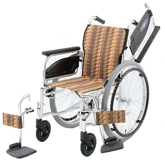 送料無料 車椅子 低床 スイングアウト 跳ね上げ 折りたたみ スタンダード 多機能 日進医療器 NA-400シリーズ NA-406W 自走用 張り調整 使いやすい