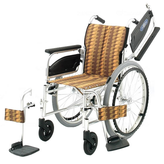 多機能 つかいやすい 車椅子 NA-400シリーズ Wタイプ NA-446W 自走用 折りたたみ 肘跳ね上げ スイングアウト 送料無料 日進医療器 nissin 22インチ 車イス 車いす くるまいす 折り畳み