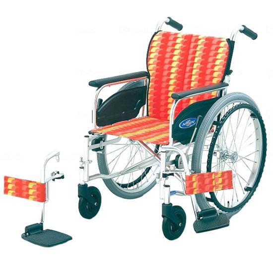 スタンダード 標準 車椅子 NA-400シリーズ FOタイプ NA-426FO 自走用 折りたたみ スイングアウト 送料無料 日進医療器 nissin 22インチ 車イス 車いす くるまいす 折り畳み