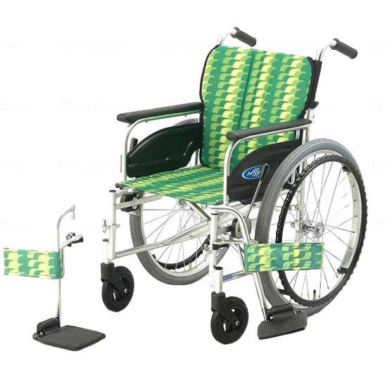 スタンダード 標準 車椅子 NA-400シリーズ FOタイプ NA-446FO 自走用 折りたたみ スイングアウト 送料無料 日進医療器 nissin 22インチ 車イス 車いす くるまいす 折り畳み