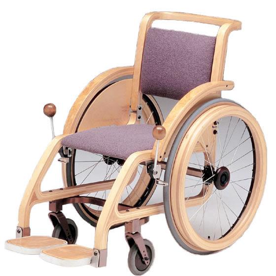 室内用 木製 車椅子 自走用 送料無料 日進医療器 nissin 車イス 車いす くるまいす おしゃれ オシャレ 木材 屋内 ホテル 公共空間 インテリア