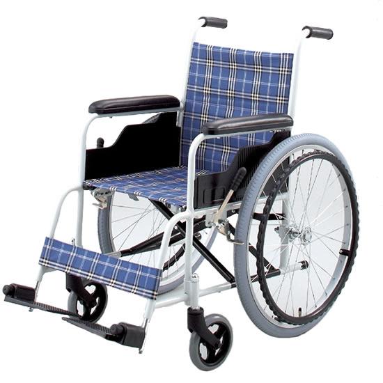 送料無料 日進医療器 自走用 車椅子 TK-10 背固定タイプ | 車いす 車イス くるまいす 折り畳み 折りたたみ エアタイヤ 介助ブレーキなし アルミフレーム